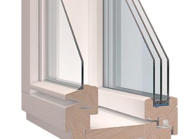 Kastlové okno - prierez